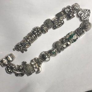 Authentic Pandora sterling silver bracelet 73gs!